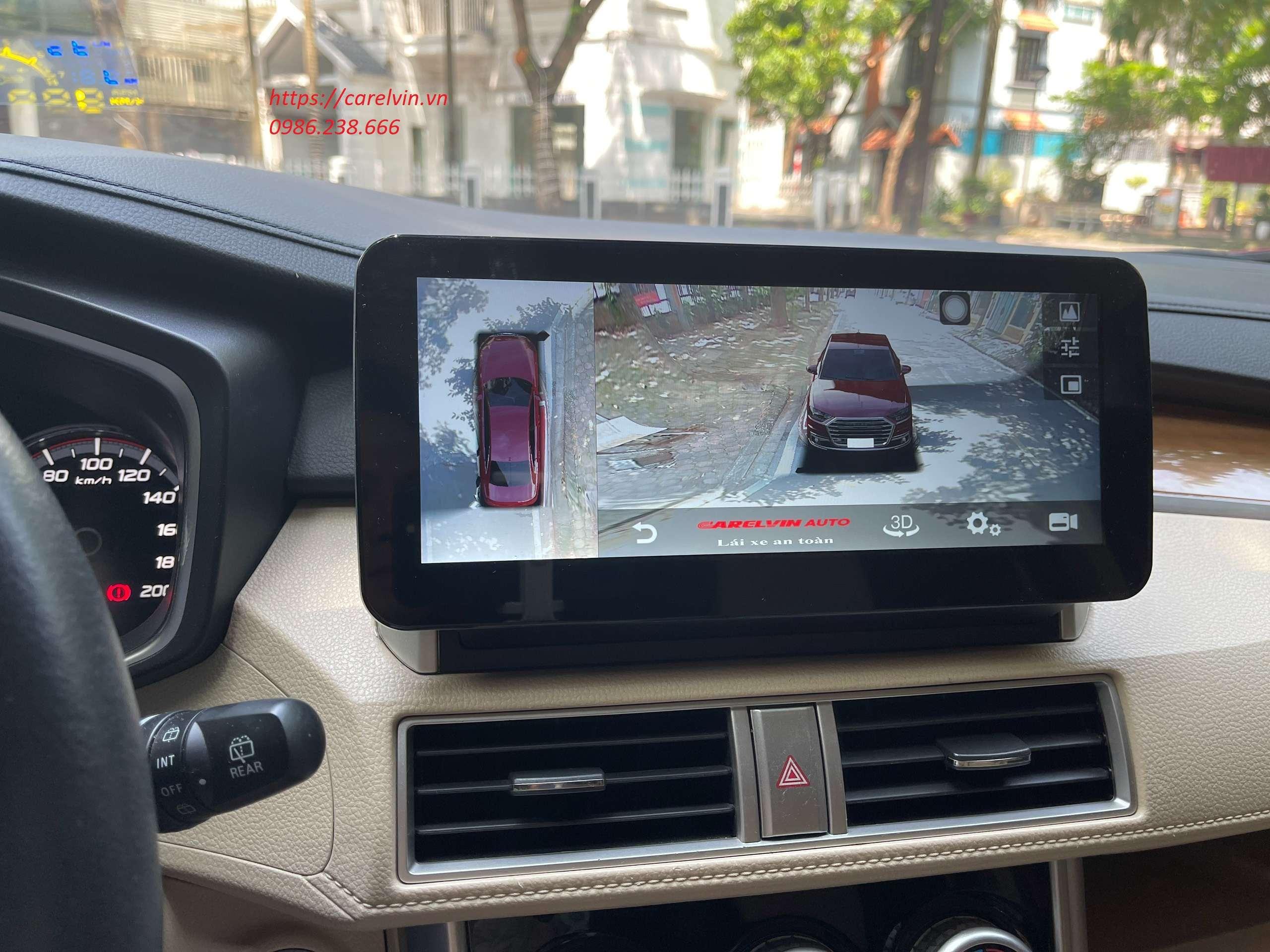 Cam 360 độ quan sát ghi hình 4 hướng xem lại trực tiếp trên màn hình