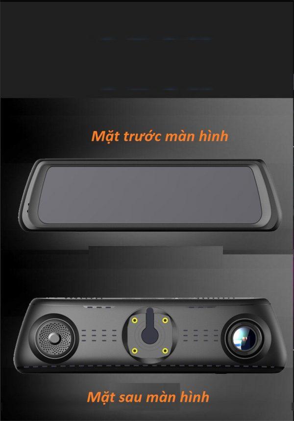 Củ Gương 10 inch Kiêm Camera Hành Trình 4G-5
